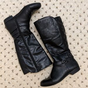 Style & Co Faee Black Knee High Wide Calf Boots